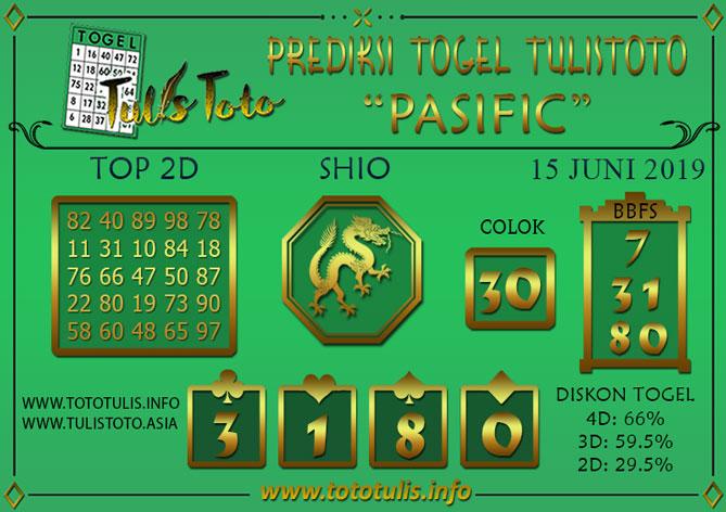 Prediksi Togel PASIFIC TULISTOTO 15 JUNI 2019