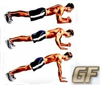 Latihan otot lengan dengan push up plank