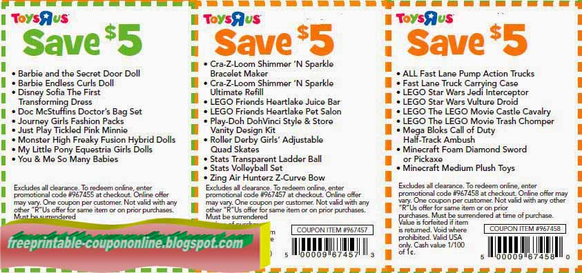 Toys r us online coupons