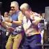 Amable Aristy Castro bailó a ritmo de los Hermanos Rosario