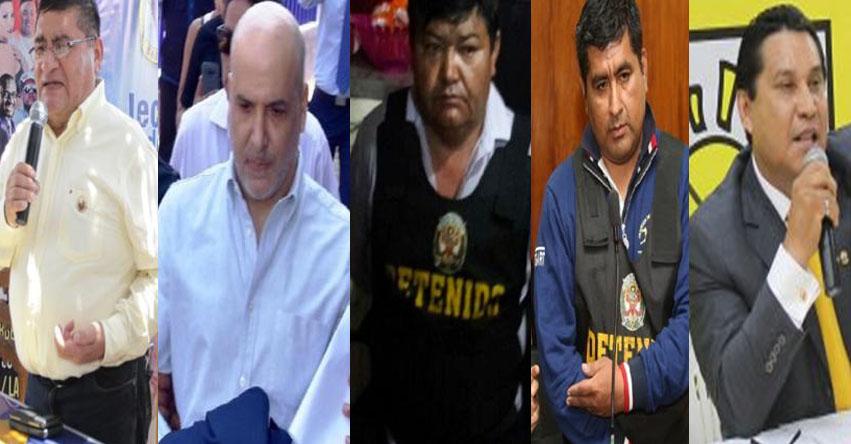 Solidaridad Nacional, partido de Castañeda Lossio, tiene cuatro alcaldes detenidos en menos de un año además de un prófugo de la justicia