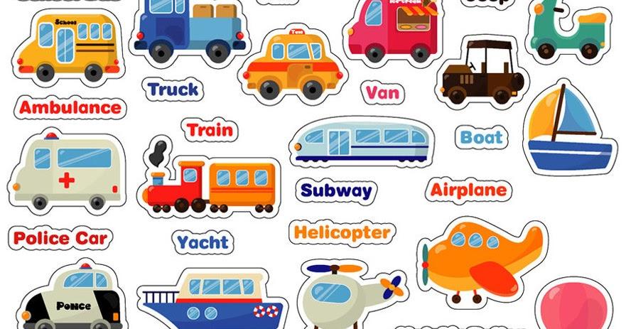Saiin: gambar macam-macam alat transportasi