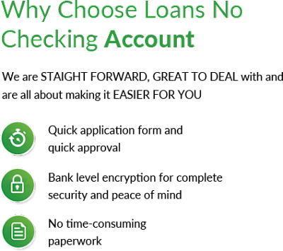 Loans Without Checking Account >> No Checking Account Loans Http Www Handypaydayloans Com