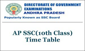 AP 10th Class Exam Time Table