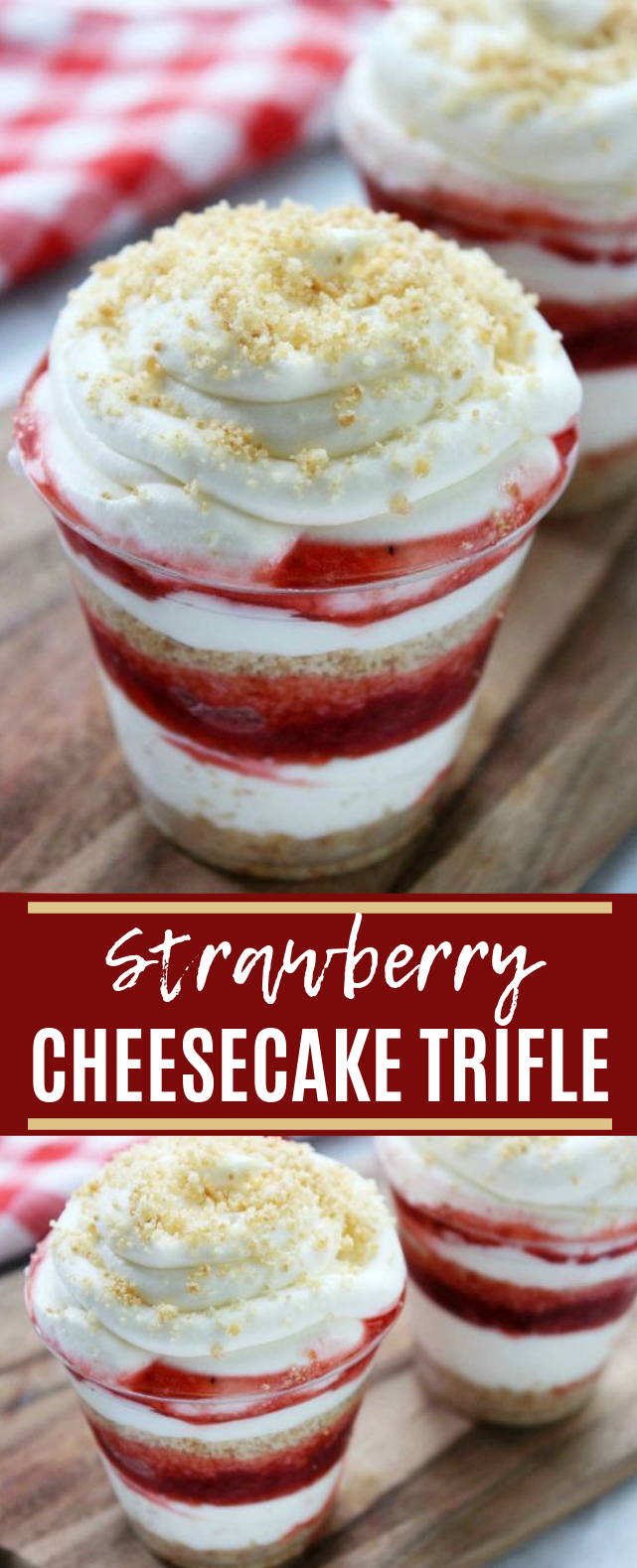 Strawberry Cheesecake Trifle #dessert #summer