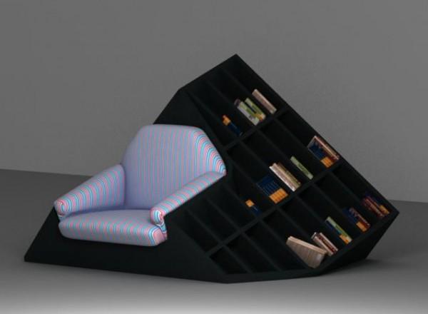 Tatik chair-bookshelf object