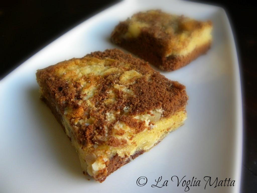 ricetta brownies marmorizzati alle mandorle