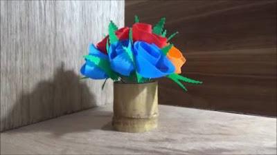 Cara Membuat Vas Bunga dari Bambu Sederhana Beserta Gambarnya
