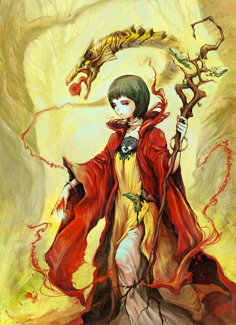 Tarot Girl Queen Of Wands: Heroines Of Fantasy: January 2012