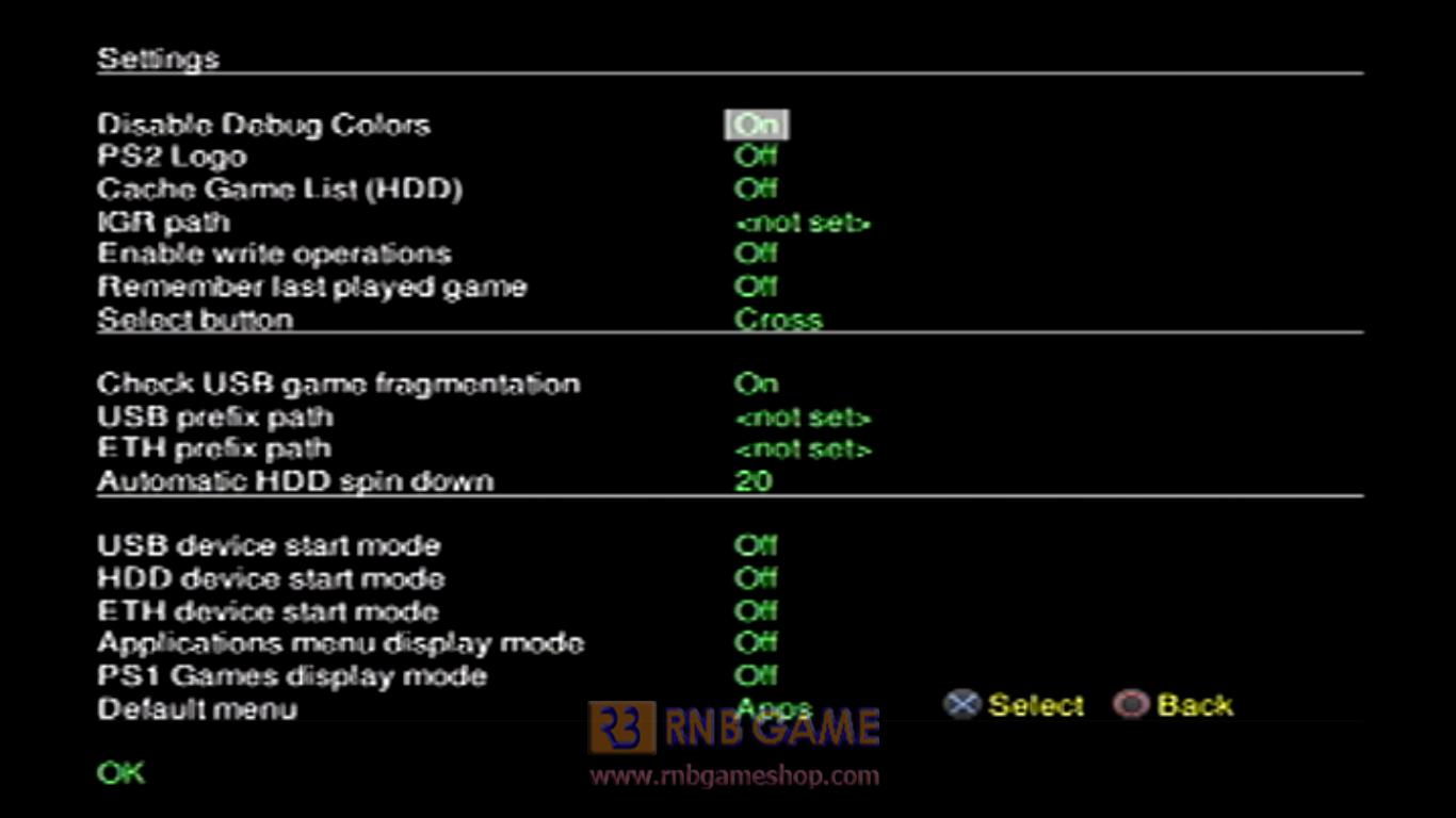 OpenPS2Loader - OPL 1515 Daily Build - RNB GAME - SHOP