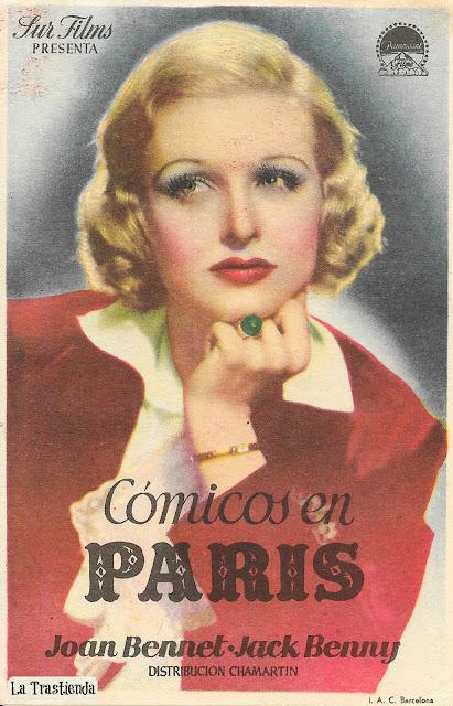 Cómicos en París - Programa de Cine - Jack Benny - Joan Bennet