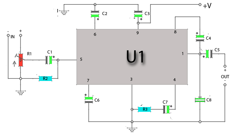 20 Band Graphic Equalizers Circuit Diagram