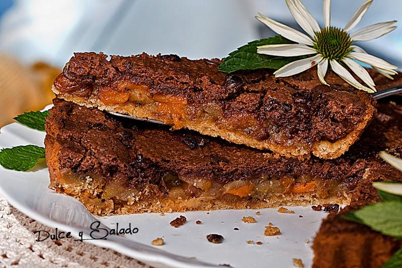Tarta de Frutas con Streusel de Chocolate
