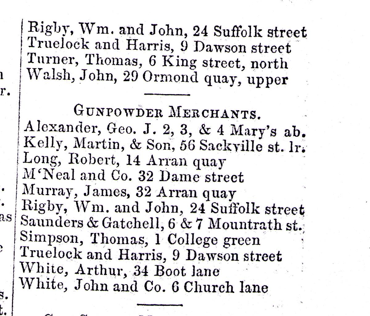 Trades Directory Trades: New Website: 1856 Dublin Trades Directory