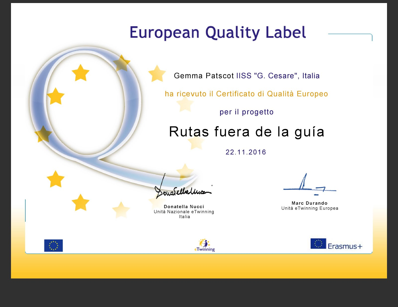 ETWINNING - European Quality Label