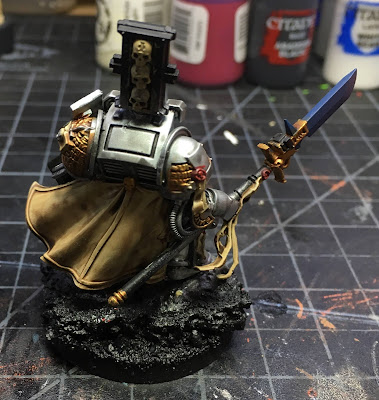 Grey Knight Brother Captain WIP gold details back