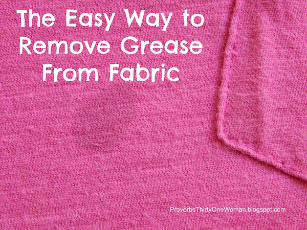 The Easy Way to Remove Grease From Fabric