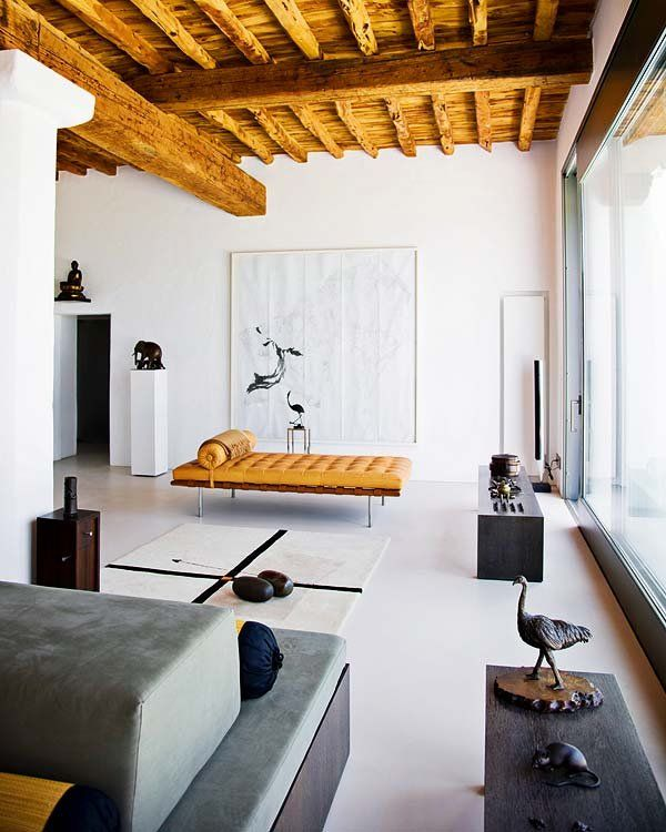 Rustic Contemporary Living Room Green: Lunch & Latte: Space: A Modern Minimalist Living Room In Ibiza