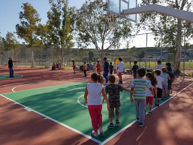 Γέμισε ζωή το νέο γήπεδο Μπάσκετ του Δρεπάνου