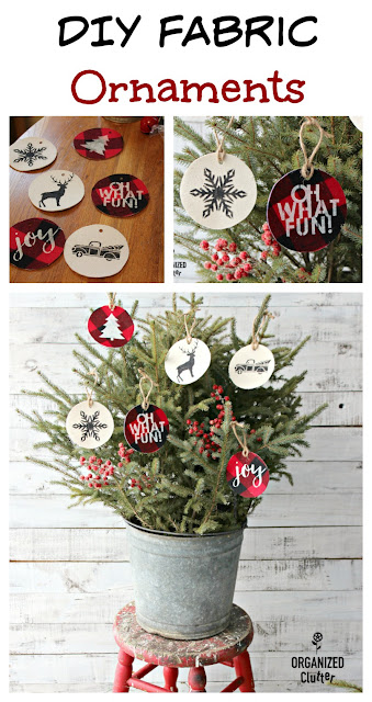 DIY Fabric Ornaments With Stencils From Joann Fabrics #rusticChristmas #stencil #ornaments #sprucetops