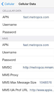 MetroPCS APN Settings for iPhone