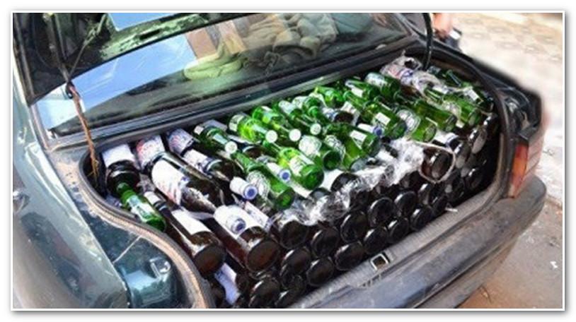 سيارة محملة بكمية مهمة من المشروبات الكحولية