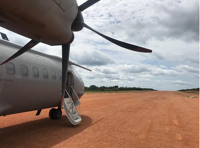 El C-295 del Destacamento Mamba opera desde un nuevo campo de vuelo no preparado