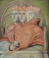 Arte latinoamericano Gregorio Sabillón retrato surrealista, Rafael Sanzio Retrato de cardenal