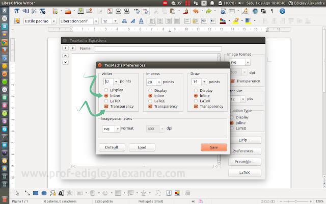 Configurando o TexMaths