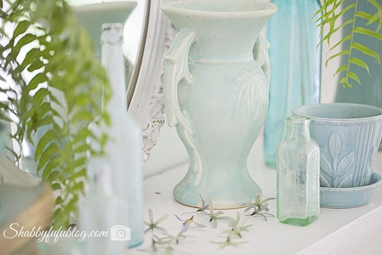 mc coy pottery in aqua