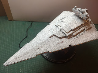Star Wars, Empire Strikes Back. reveal, scale model, Fiber optics