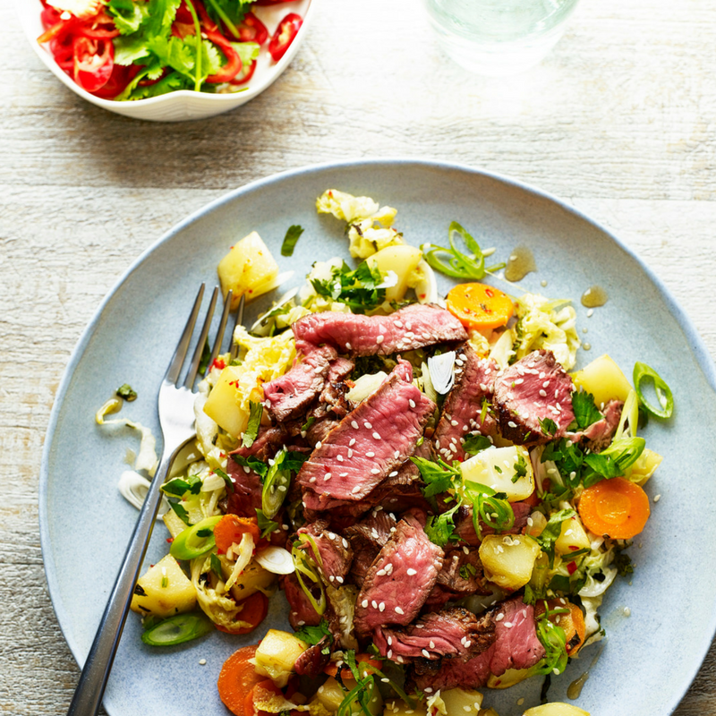 Thai Beef and Potato Salad...