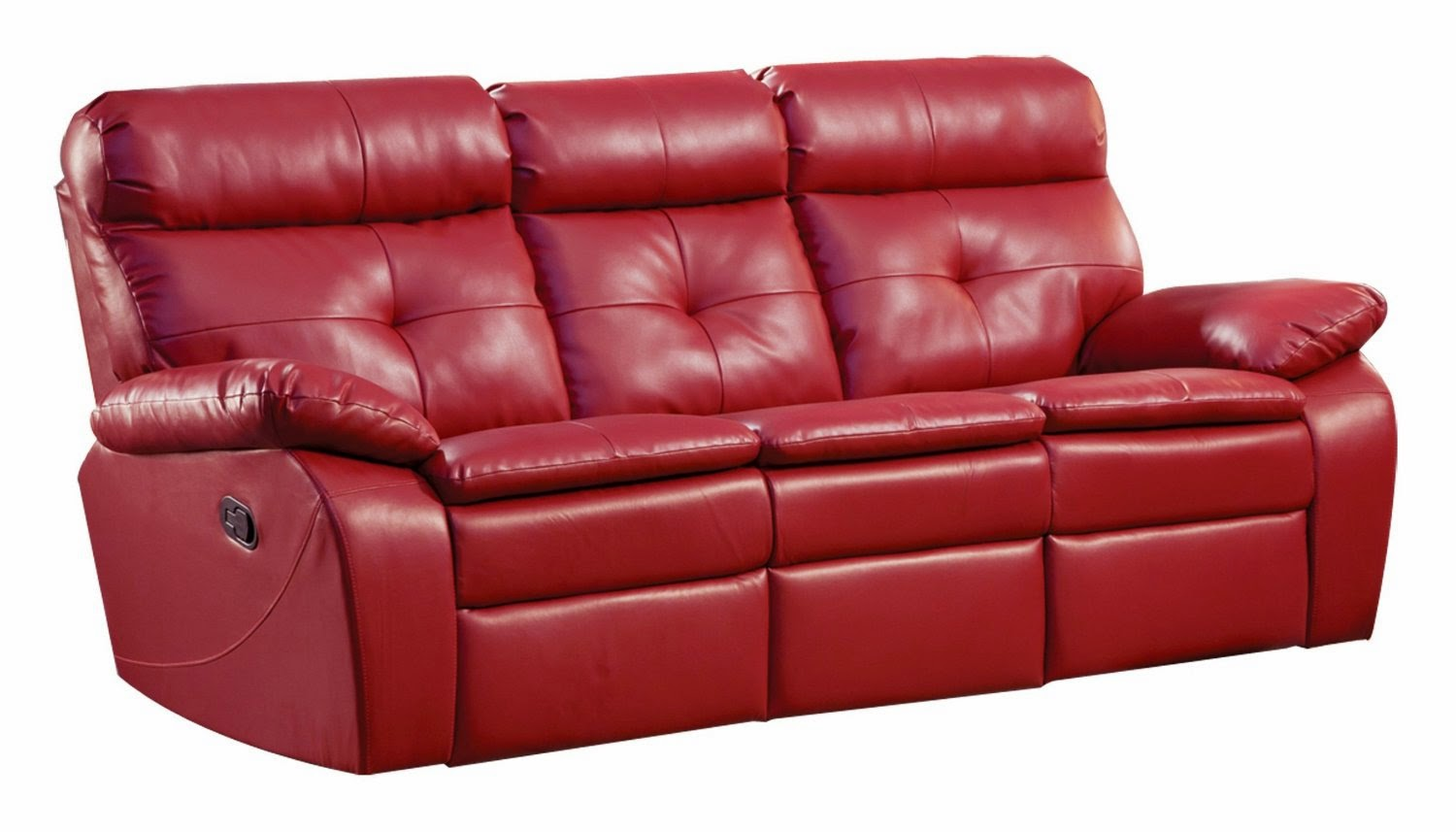 The best reclining sofa reviews red leather reclining for Leather reclining sofa