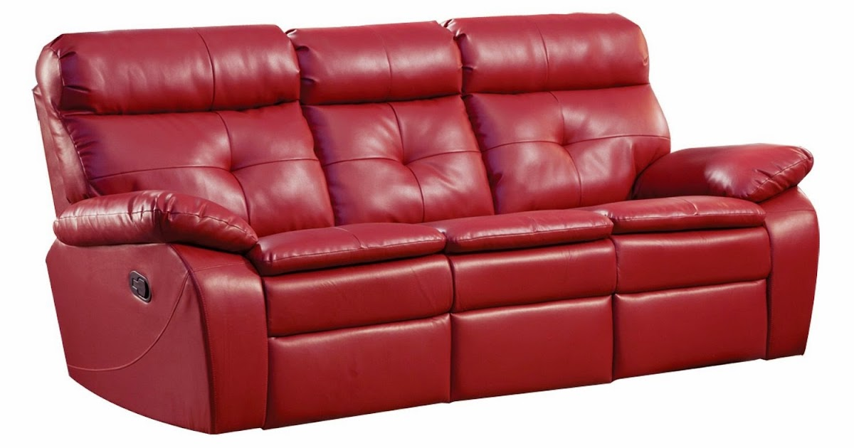 The Best Reclining Sofa Reviews: Red Leather Reclining ...