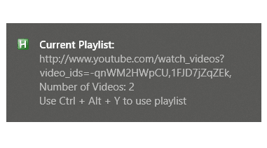 YouTube Playlist Notification