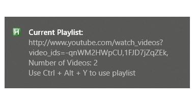 YouTube Playlist Notification