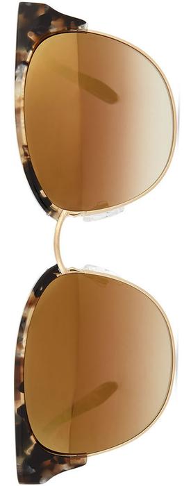 Barton Perreira Camden Mirror Semi-Rimless Square Sunglasses