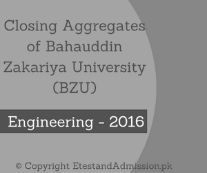 Closing Aggregates of BZU