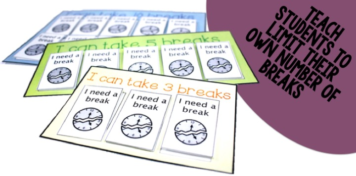 Teaching students to take a break can help them learn to cope with emotions. Read on as one autism educator explains how breaks work in her classroom.