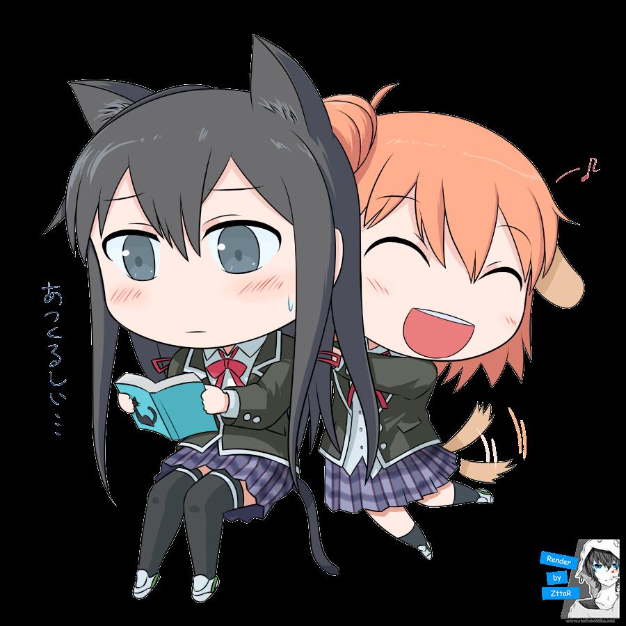 Render Yukinoshita Yukino & Yuigahama Yui chibi