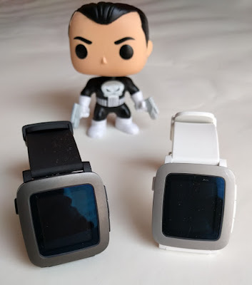 Pebble Time en negro y blanco