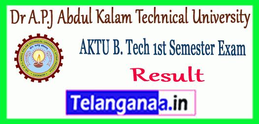 AKTU Dr. APJ Abdul Kalam Technical University B.Tech 1st Semester Result