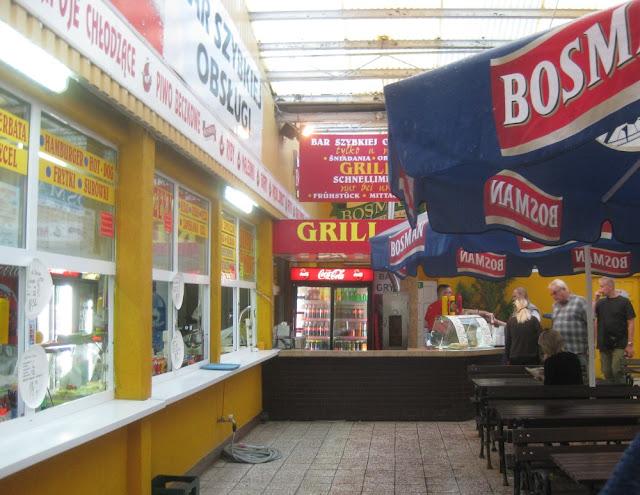 Abendessen auf der polnischen Seite von Usedom