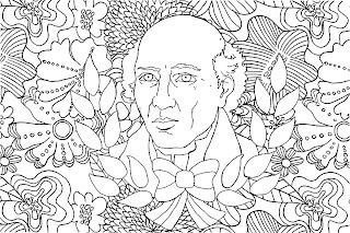 Mandala de Miguel Hidalgo para colorear | Mandala de la independencia