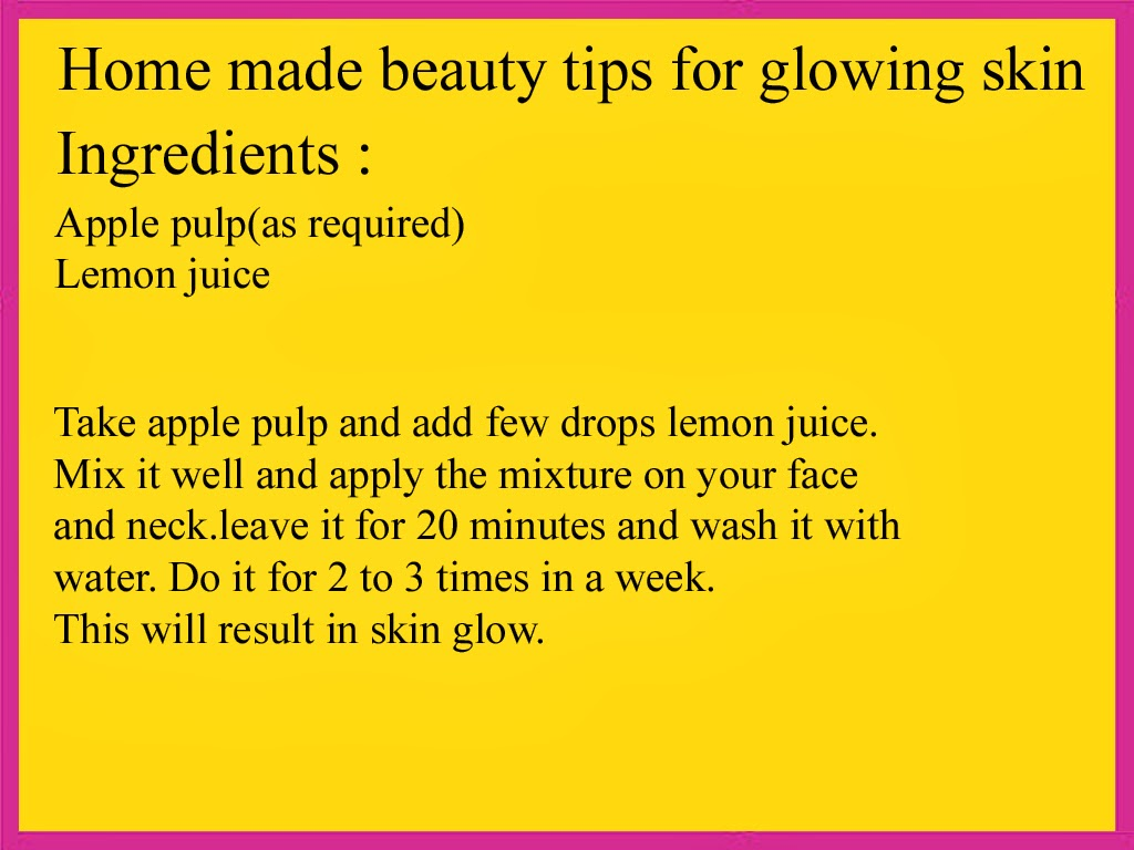 Beauty Tips: 9 homemade beauty tips for glowing skin in english