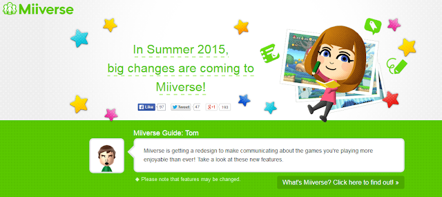 Miiverse Redesign Summer 2015 big changes Tom Nintendo