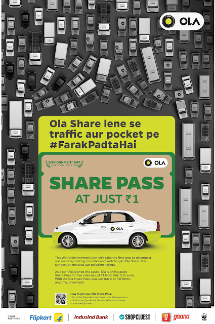 ola car saving ad