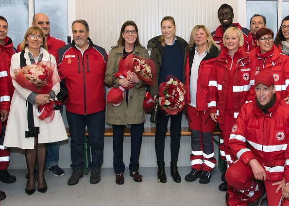 AMADE president Princess Caroline of Hanover and Beatrice Borromeo Casiraghi visited Campo Roya Mother-Child Centre in Ventimiglia