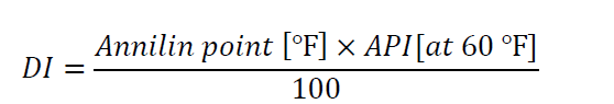 cetane number formula