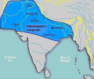 The military strength lacked by Chandragupta's force was balanced out by cunning strategies of Chanakya or Kautilya.